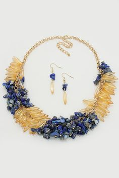 Laurel Necklace in Lapis on Emma Stine Limited