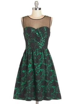 #dress #green #black