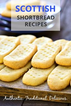 Traditional Scottish Shortbread Recipes A traditional Scottish shortbread recipe is a treasure. Step by step help and a little bit of shortbread history. Scottish Shortbread Cookies, Shortbread Biscuits, Shortbread Bars, Shortbread Recipes, Biscuit Cookies, Biscuit Recipe, Yummy Cookies, Cookie Recipes, Dessert Recipes