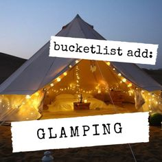I LOVE the idea of glamping! Being in nature, but being comfortable is a big yes especially in summer x Overcoming Adversity, Glamping, Have Fun, Teen, Big, Nature, Summer, Summer Time, Go Glamping