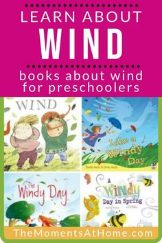 Read and learn about wind with these children's books about wind. Great for a preschool weather unit, wind study, and wind science for kids. Weather Activities For Kids, Preschool Weather, Preschool Schedule, Educational Activities For Kids, Preschool Literacy, Science For Kids, Kindergarten Activities, Fun Learning, Earth Science