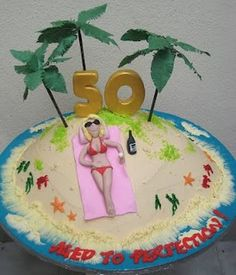 Creative Design 50th Birthday Cakes for Women