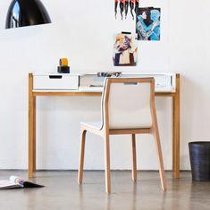 Schreibtisch Halling (ausziehbar) - Wildeiche teilmassiv | home24