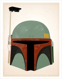 Star Wars Boba Fett Helmet print - 11x14 print - Starwars poster Star Wars character print. $17.50, via Etsy.