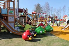 #angrybirds - Särkänniemi in Tampere, in Finland, in June Angry Birds Land is opening