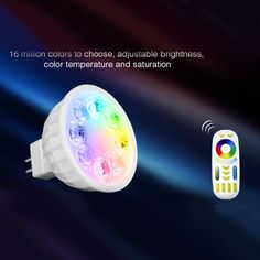 Milight MR16 spot light DC12V 2.4G Wireless  Dimmable Led Bulb  RGB+CCT Led Spotlight Smart Led Lamp+ LED Remote
