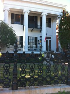 During the Civil War, Union troops believed the Confederate Gold to be stored in the Hay House.  Shooting cannons from across the Ocumlgee River instead hit the home of Judge Asa Holt.  Luckily, the cannon did not explode, and the house serves today as a museum of antebellum history.  The two front parlors of the house are furnished with original meeting rooms of the world's two first sororities founded at Wesleyan College, Alpha Delta Pi and Phi Mu.