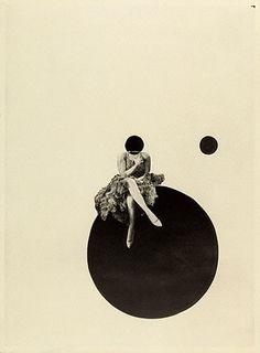 """The Olly and Dolly Sisters"" de László Moholy-Nagy - fotógrafo e pintor da Hungria, instrutor na escola de Bauhaus, Dolly Sisters, Photomontage, Art Du Collage, Dada Collage, Laszlo Moholy Nagy, Plakat Design, Illustration Art, Illustrations, Getty Museum"