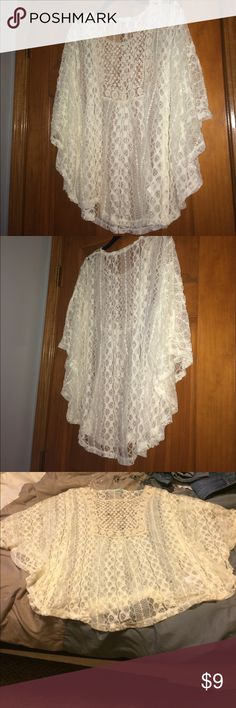 White lace shirt Fantastic condition, full of pretty designs Maurices Tops Blouses