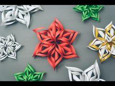 Como fazer flocos de Neve 3d com Papel - Decoração Festa Frozen - Paper…