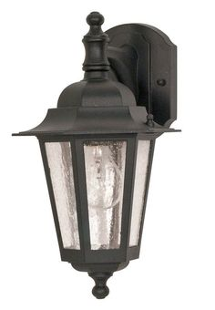 Nuvo Lighting 60/990 Single Light Down Lighting Outdoor Wall Sconce from the Cor Textured Black Outdoor Lighting Wall Sconces Outdoor Wall Sconces