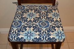 Outdoor chair cushion cover kitchen dining by BrittaLeighDesigns