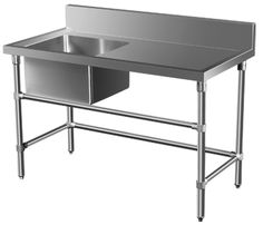 Pro New Stainless Steel Commercial Catering Kitchen Sink unit 1200 ...