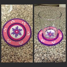 Coaster hama beads by mir_yus