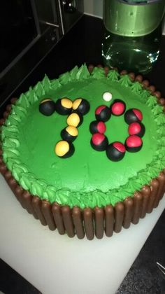 70th birthday cake lawn bowls