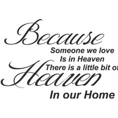 Mychampion Because Someone We Love is in Heaven Art Quotes Wall Stickers Decal room dcor * Click image to review more details.