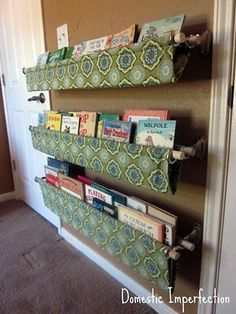 Think this is a colorful, clever way to store kids books