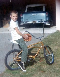 Retro Toys, Vintage Toys, Vintage Bmx Bikes, 1955 Chevy, Kids Ride On, Family Album, The Good Old Days, Cool Bikes, Childhood Memories