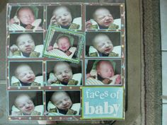 Baby Scrapbook / Little Faces / Page Layout / Memory Book / Photos