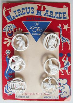 Vintage Circus Parade Buttons