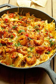 Blackened Shrimp Nachos - So Delish and So easy- A Game Day and Super Bowl MUST!  Grandbaby Cakes