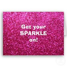 Faux Hot Pink Glitter Cards