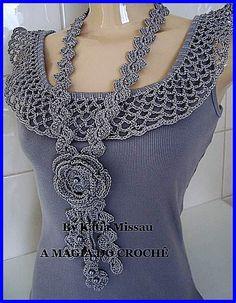 1000 images about blusas crochet on pinterest crochet - Aplicaciones en crochet ...