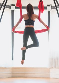 Increase your back strength with a Basic Aerial Yoga Hammock. You will love the results!