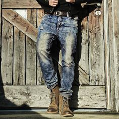 Denim Pants Mens, Jeans Pants, Shorts, Ripped Jeans, Moda Vintage, Vintage Denim, Casual Jeans, Jeans Style, Style Casual