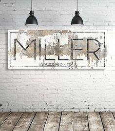 Modern Last Name Sign - Personalized Family Name Wall Art - Modern Farmhouse Wall Art - Est Name Sign - Wedding Gift #AwesomeIdeas
