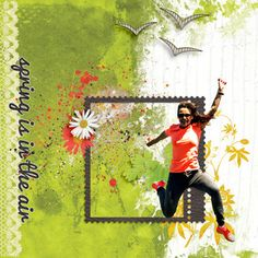 Spring is in the air Digital Scrapbooking, Digital Art, Outdoors, Posters, Baseball Cards, Wall Art, Gallery, Spring, Sports