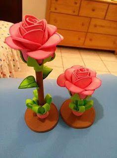 71759266934 Aprende cómo hacer rosas en foami para regalar mira este tutorial ~  Mimundomanual