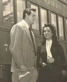 Rock Hudson & Elizabeth Taylor From The Movie Giant