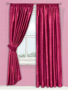 these Samite Shocking Pink curtains will be the ideal addition to your home! Bold and vivacious, this shining fabric will catch eyes and inject playful personality into your home... #faux #silk #curtain