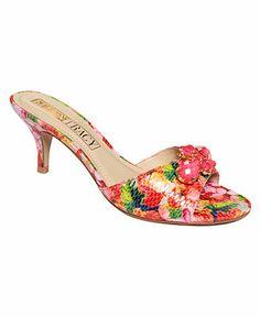 Ellen Tracy Augusta Slide Sandals, Macy's. Fun, will they stay on?