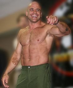 Bas Rutten - can knock you out with open hands.