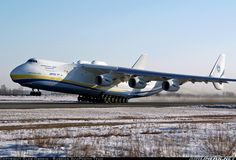Largest plane in the world - look at all those engines and wheels. It's a wonder it flies!