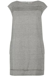 People Tree | Martha Embroidered Dress in Grey