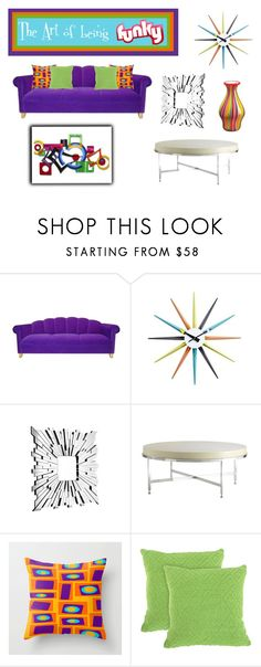 """Abstract Living"" by sjlew ❤ liked on Polyvore featuring interior, interiors, interior design, home, home decor, interior decorating, Zuo and Allan Copley Designs"