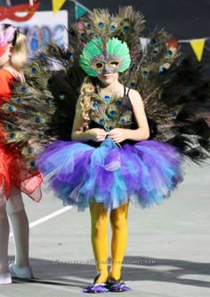 Stunning Girls Peacock Costume... Coolest Homemade Costumes