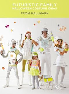Looking for fun family Halloween costumes? See how to craft our simple DIY space family Halloween costumes using everyday items. Space Girl Costume, Outer Space Costume, Space Costumes, Diy Costumes, Alien Halloween, Family Halloween Costumes, Halloween 2017, Halloween Party, Halloween Items