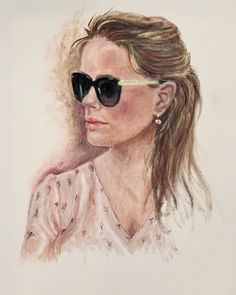 """Elin Holm on Instagram: """"Finishing touches or not? (ElinArt - August 2019) Daughter in New York City  #oiloncanvas #norwegiangirl #norwegianartist #norwegianart…"""" Cat Eye Sunglasses, Oil On Canvas, New York City, Daughter, Artist, Instagram, New York, Painted Canvas, Artists"""