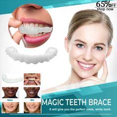 Magic Upper Lower Tooth Simulation Braces is part of Beauty skin care - Teeth Whitening Diy, Whitening Kit, Perfect Teeth, Perfect Smile, Beauty Skin, Health And Beauty, Teeth Shape, Teeth Braces, Smile Teeth