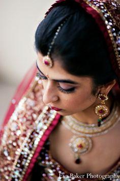 indian-wedding-bride-portrait-lengha-tikka http://maharaniweddings.com/gallery/photo/2930