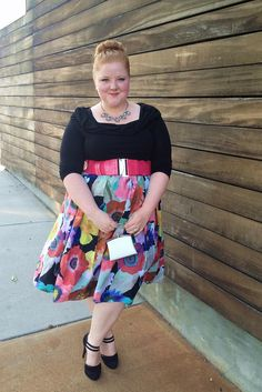 """www.withwonderandwhimsy.com """"OOTD: Bardot Beauty - An Outfit and Review"""" plus size, fashion, style, evans, scarlett & jo, florals, photo-realistic prints"""