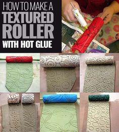 Fun Crafts Was tun mit einer Heißklebepistole? Beste Heißkleber T … Fun Crafts What to do with a hot glue gun? Best Hot Melt Adhesive T … Glue Gun Projects, Glue Gun Crafts, Craft Projects, Fun Crafts To Do, Diy Crafts, Hot Glue Art, Diy Glue, Impression Textile, Hot Melt Adhesive