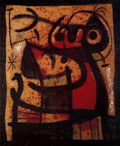 The ~ Artworks of Joan Miro Robert Rauschenberg, Spanish Painters, Spanish Artists, Yves Klein, Miro, Art Brut, Orange Art, Art Institute Of Chicago, Museum Of Modern Art