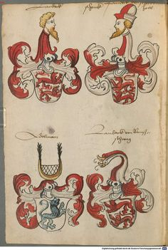 Wappen deutscher Geschlechter Augsburg ?, 4. Viertel 15. Jh. Cod.icon. 311  Folio 53v