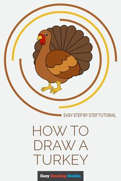Learn to draw a cool cartoon turkey. This step-by-step tutorial makes it easy. Kids and beginners alike can now draw a great looking turkey. Thanksgiving Drawings, Thanksgiving Arts And Crafts, Thanksgiving Activities For Kids, Thanksgiving Turkey, Craft Projects For Kids, Arts And Crafts Projects, Painting For Kids, Art For Kids, Turkey Drawing