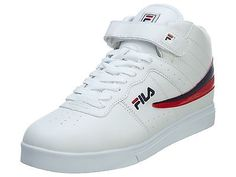 Fila Vulc 13 Mens 1VF80059-127 White Navy Red High Top Sneakers Shoes Size 7.5